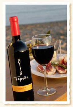 Tempranillo; Spanish table wine, goes great with any entree. Tapena is a particularly good Tempranillo.