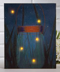 Look at this #zulilyfind! Firefly Light-Up Canvas #zulilyfinds nice for mommas room??