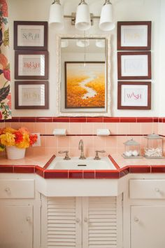 Livable Family Home - los angeles  Vintage Bathroom | A. Peltier Interiors