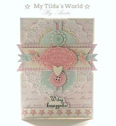 card tilda vintage shabby chic My Tilda´s World card #tilda #tildacard