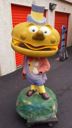 Mayor McCheese statue headed east from California. Posted by Gavin Transportation Services.