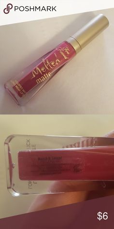 Too Faced melted matte Too faced melted matte New and never used Color is bend and snap! Too Faced Makeup Lipstick