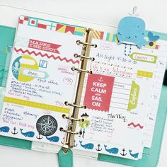 Light Teal Color Crush Planner:: Anabelle O'Malley