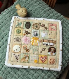 Happy Go Lucky Stitchalong Embroidery Sampler, Class Projects, Big Picture, Needle And Thread, Quilt Blocks, Squares, Grid, Stitching, Mixed Media