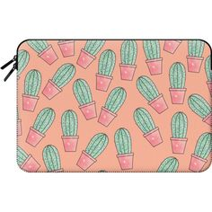 Macbook Sleeve - Cute Faux Sparkly Glitter Green and Coral Pink Summer... (79 CAD) ❤ liked on Polyvore