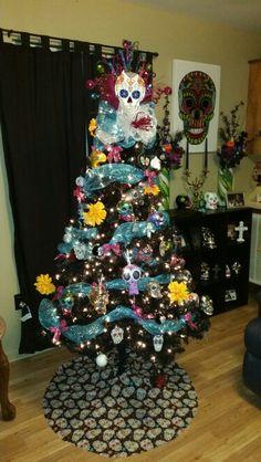 Sugar skull Christmas tree