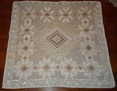 SOLD Lace Linen from Lefkara, Cyprus...Very Old & Rare. The pattern is Leonardo de Vinci  http://www.ebay.com/itm/321000906367?ssPageName=STRK:MESELX:IT&_trksid=p3984.m1555.l2649