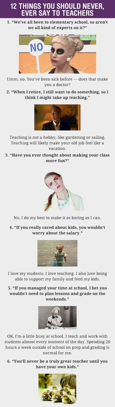 Things You Should Never Say To Teachers