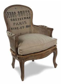 burlap chair for my bedroom