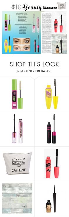 """""""Untitled #50"""" by mikhaylakim ❤ liked on Polyvore featuring Maybelline, Boohoo, WallPops, Charlotte Tilbury and 10dollarbeauty"""