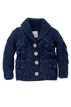 Kid's Clothing - Kidswear and Clothes for Children - Next Cable Bobble Cardigan - EziBuy New Zealand Knitting For Kids, Baby Knitting, Baby Boy Fashion, Kids Fashion, Baby Boy Outfits, Kids Outfits, Knit Baby Sweaters, Baby Cardigan, Knit Cardigan