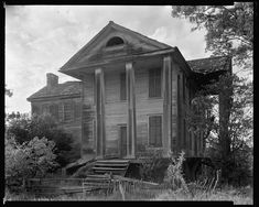 Ruined house, Penfield, Greene County, Georgia
