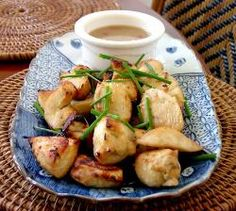 Chicken with Peanut Butter Dipping   --I pinned this for the sauce.  Need to scroll down a bit to find this recipe...