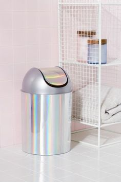 Mezzo Mini Holographic Trash Can | Urban Outfitters