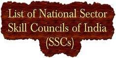 List of Sector Skill Councils of India Everything, India, Goa India, Indie, Indian