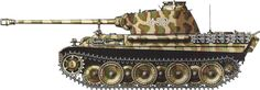 Germany, April 1945 Panzerkampfwagen V Panther Sd.Kfz 171 camouflage patterns - Earl Grey collection