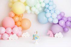 Baby Girl Birthday Decorations, First Birthday Theme Girl, Rainbow First Birthday, Baby Birthday, First Birthday Parties, Birthday Celebration, Birthday Party Themes, First Birthdays, Birthday Ideas