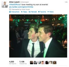 AH! Allen Leech called Niall his son! THIS IS THE GREATEST THING EVER!