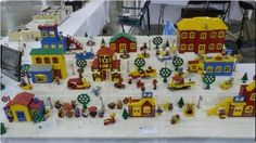 Brickfair 2012.  Very cute.  I love the staggered levels to the town.