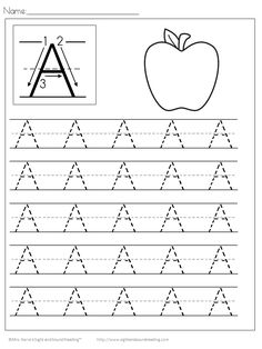Fun Handwriting Worksheets for kids to help them learn to write. The Handwriting worksheets are great for preschool or kindergarten. Handwriting Worksheets For Kids, Fun Worksheets For Kids, Letter Worksheets For Preschool, Alphabet Tracing Worksheets, Handwriting Alphabet, Preschool Writing, Kindergarten Worksheets, Preschool Letters, Handwriting Practice Free
