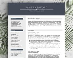 all about you Modern Resume Template for Word and Pages , 1-3 Page Resume + Cover Letter + Tips | US Letter & A4 | Modern Cv Template  | INSTANT DOWNLOAD