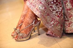 nice shoes for desi bride!! :)