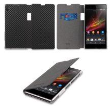 Funda Xperia Z1 Made For Xperia - Flip Cover Carbon Negra $ 187,00