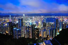 Hong Kong's dazzling night view from The Peak