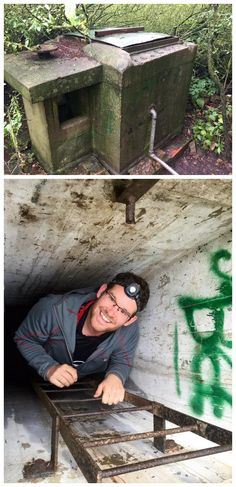 Historic descent into the amazing Cold War Cache (http://coord.info/GC32REK), a D5/T5 geocache in the UK with over 250 favourite points. (pics by Gnomedodds on Twitter stitched together & pinned to Extreme Geocaching - https://www.pinterest.com/islandbuttons/extreme-geocaching/) #IBGCp