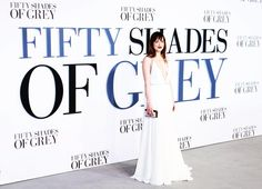 """Dakota: """"I love a gown. I dunno...It really depends on my mood [what I wear]."""" #DakotaFacts Shades Of Grey Movie, Fifty Shades Of Grey, Ana Steele, Leicester Square, Pitch Perfect, Christian Grey, Dakota Johnson, Gossip Girl, Movie Quotes"""