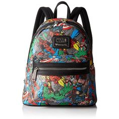 Loungefly Marvel Character Aop Mini Fashion Backpack ($42) ❤ liked on Polyvore featuring bags, backpacks, loungefly bags, miniature backpack, backpack bags, daypack bag and day pack backpack