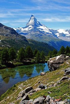 The Matterhorn in Zermatt, Switzerland.