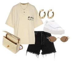 """Untitled #23739"" by florencia95 ❤ liked on Polyvore featuring Off-White, Yeezy by Kanye West, Puma, Chanel and Alicia Marilyn Designs"