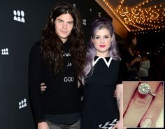 Kelly Osbourne shows off engagement ring from fiance Matthew Mosshart on Instagram on July 21, 2013.
