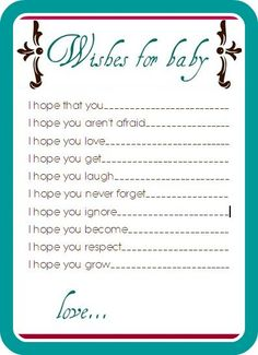 baby boy shower games | You can use this card for your baby birthday baby shower games