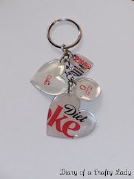 Soda cans and Mod Podge Dimensional Magic key chains