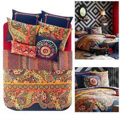 Josie Boho Bohemian Moroccan Duvet Mini Bedding SET | GoGetGlam