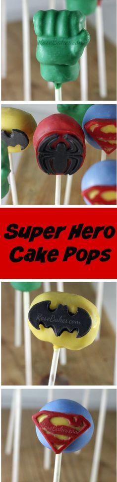 Super Hero Cake Pops
