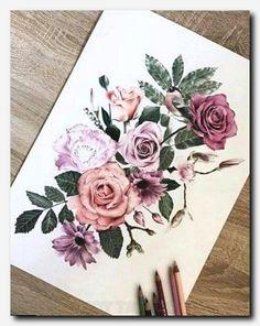 That would be great as a half sleeve tattoo … - Flower Tattoo Designs Neue Tattoos, Arm Tattoos, Flower Tattoos, Body Art Tattoos, Tattoo Drawings, Tattoo Thigh, Tribal Tattoos, Tatoos, 3 Roses Tattoo