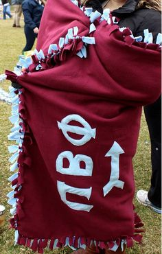 Pi Beta Phi blanket craft! #piphi #pibetaphi