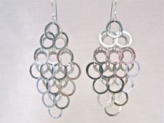 """Sterling Silver """"Chandelier"""" earrings ~ just $180(AUD) from mhoriginals.com.au ❤"""