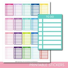 To do stackable stickers, To do checklist stickers, To do stickers, To do planner stickers, To do full box, To do sidebar, STI-288