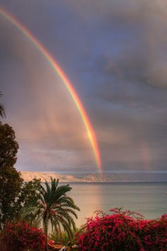 Regenbogen über dem See Genezareth Rainbow over the Sea of ​​Galilee Rainbow Wallpaper, Cute Wallpaper Backgrounds, Nature Wallpaper, Rainbow Aesthetic, Sky Aesthetic, Rainbow Photography, Nature Photography, Nature Pictures, City Photography