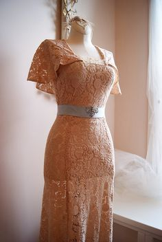 Gorgeous 1920's lace wedding dress. Available at Xtabay Bridal.