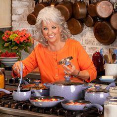 Paula Deen 10419 Signature Nonstick Cookware Set / Pots and Pans Set - 15 Piece, Blueberry Speckle Paula Deen, Burnt Food, Pots And Pans Sets, Joy Of Cooking, Pan Set, Best Dishes, Cookware Set, Glass Ceramic, Great Recipes