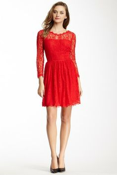 Would be perfect with black tights for a Holiday Party! Juicy Couture Delicate Lace Dress by Non Specific on @HauteLook