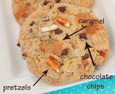 Chocolate, Carmel, & Pretzel Cookies Sweet & Salty Satisfaction