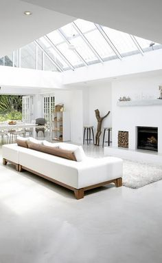 Living Room Furniture Ideas In Minimalist White House With Modern Interior  Design In South Africa