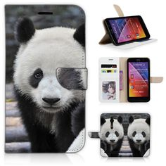 ZE551ML Case Wildlife Animal Lovely Panda Wallet Cover for Asus Zenfone2 5.5'' ZE551ML with Credit Card Slot Money Pocket