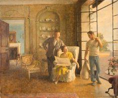 Old Masters Reprint Boeren in een herberg van Ostade f407 Peasants in an Inn